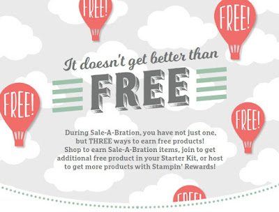 During Sale-A-Brations, earn free products with each $50 order