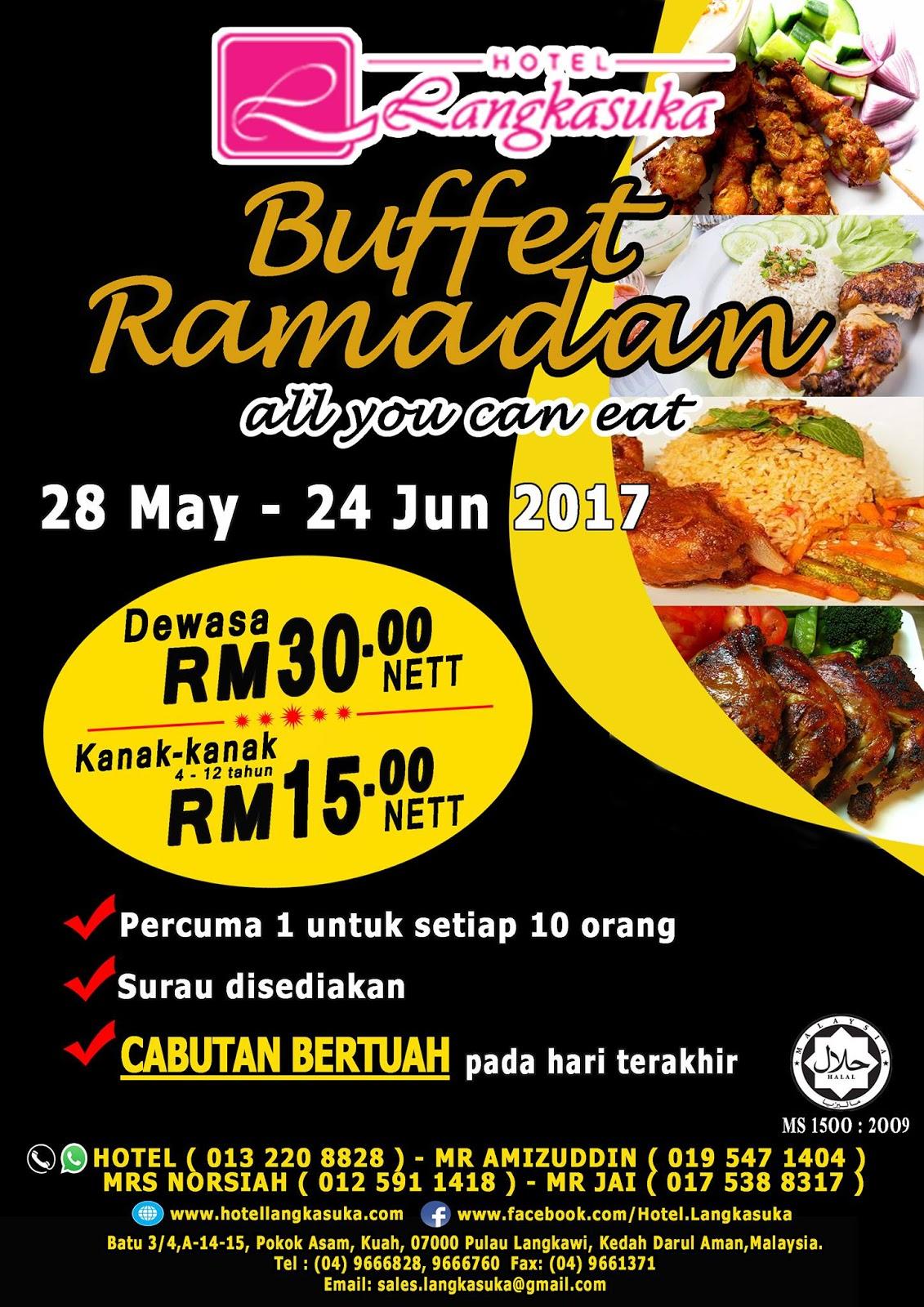 Buffet Ramadhan hotel langkasuka langkawi