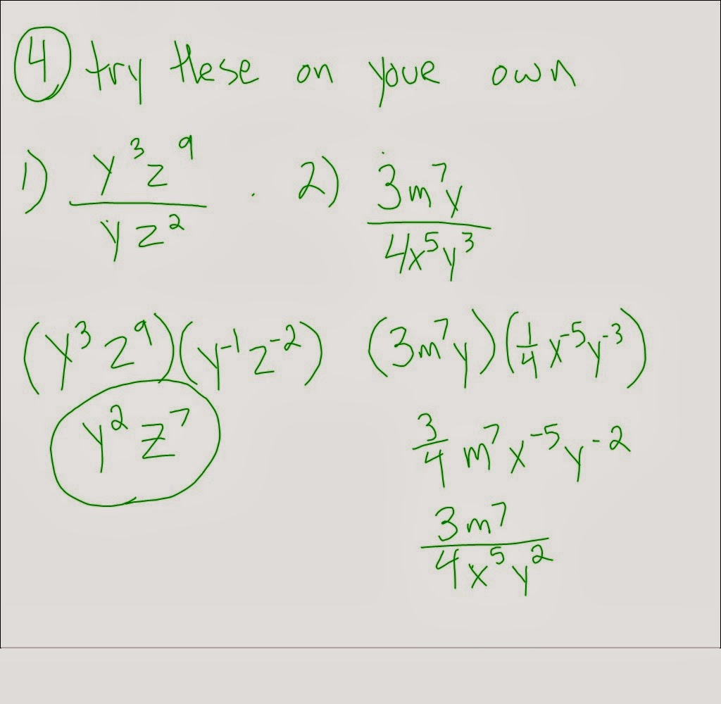 Multiplying Monomials With The Same Base Worksheet Answers