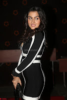 Ananya Soni in a Deep neck white blackl Dress at Shamanthakamani pre release function ~  Exclusive 073.JPG