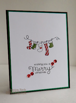 Merry Christmas Card by Jessica Esch for Newton's Nook Designs