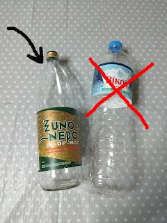 γυἀλινο-πλαστικό-μπουκάλι