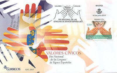 Sobre Primer día de circulación dedicado a las Lenguas de Signos Españolas