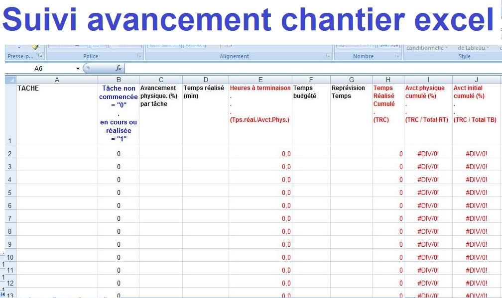 Planning Travaux Excel Uv  Jornalagora