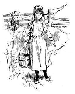 milkmaid image vintage girl clip art