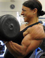 Female-bodybuilder, Strength training helps you develop better body mechanics