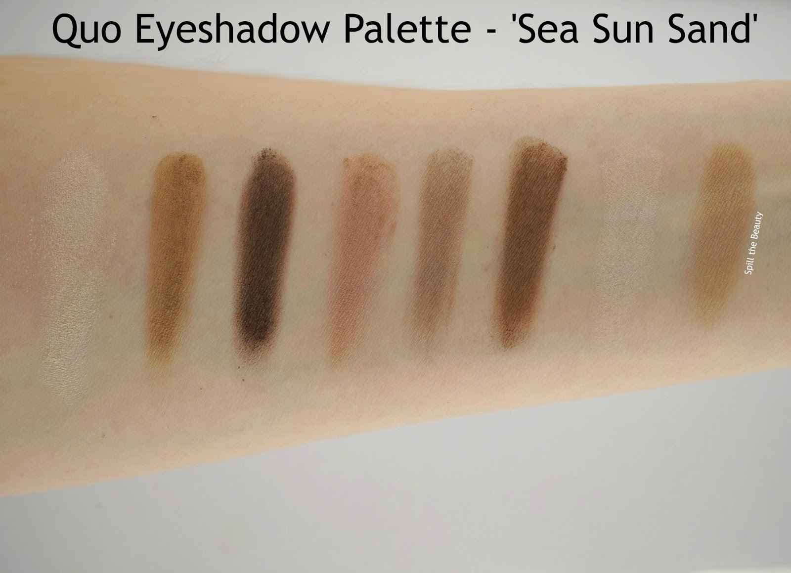 Quo Summer 2016 Limited Edition Summer Collection review eyeshadow palette sea sun sand swatches