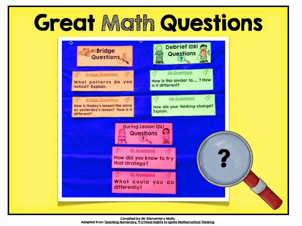 critical thinking math questions Fun critical thinking activities provide higher level thinking questions give ample wait time increase critical thinking through authentic instruction.