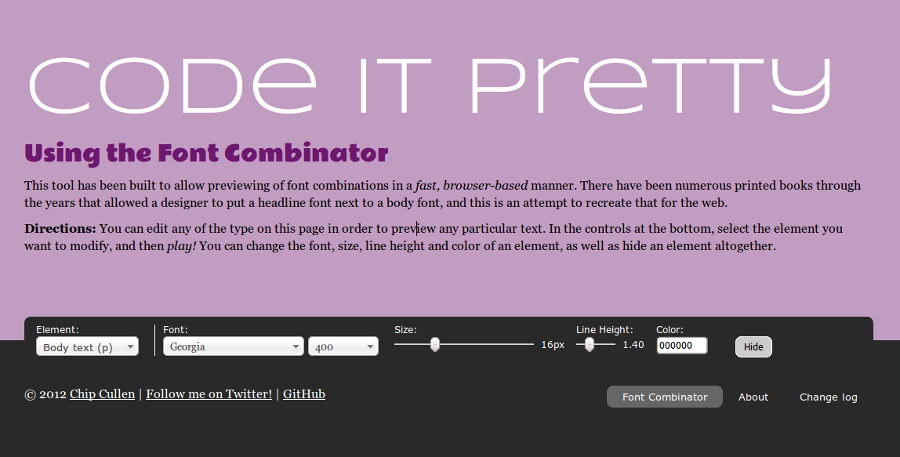 Code it Pretty: The Font Combinator - Find Beautiful Web Fonts