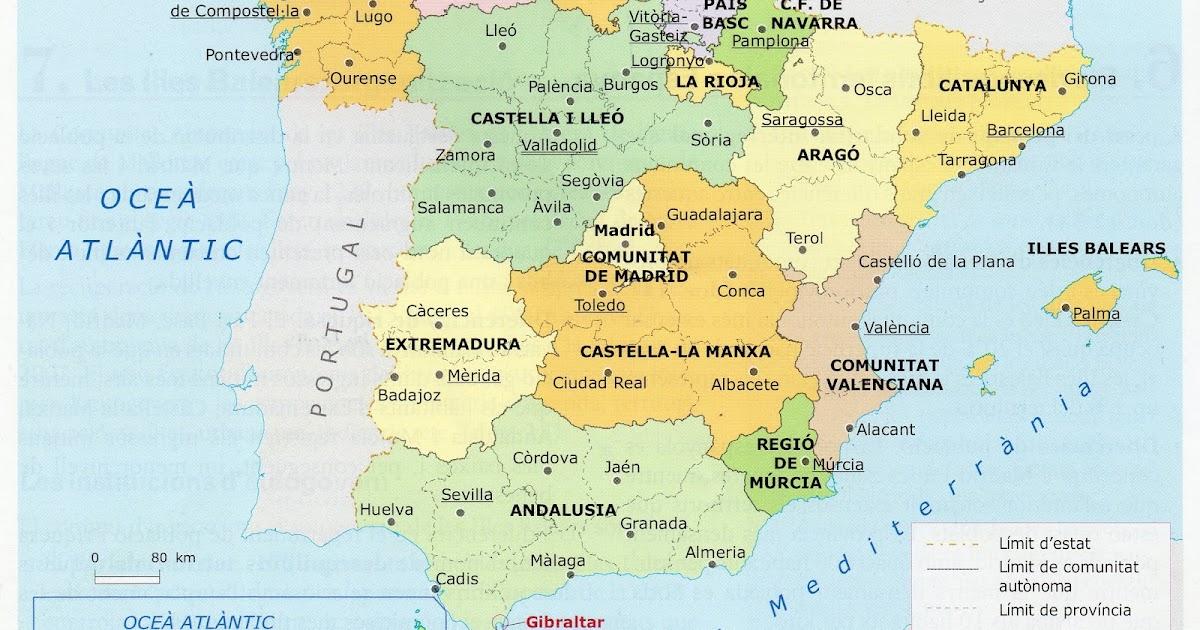 Cervantes 3r Primaria Mapes Interactius Mapa Fisic I Politic D