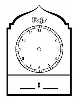 Daily Prayer Timings Clockfaces