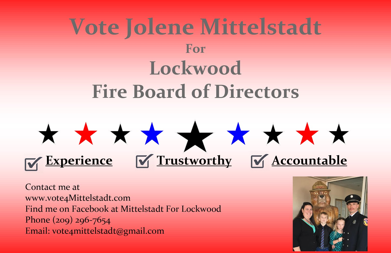 Jolene Mittlestadt for Lockwood Fire Board of Directors