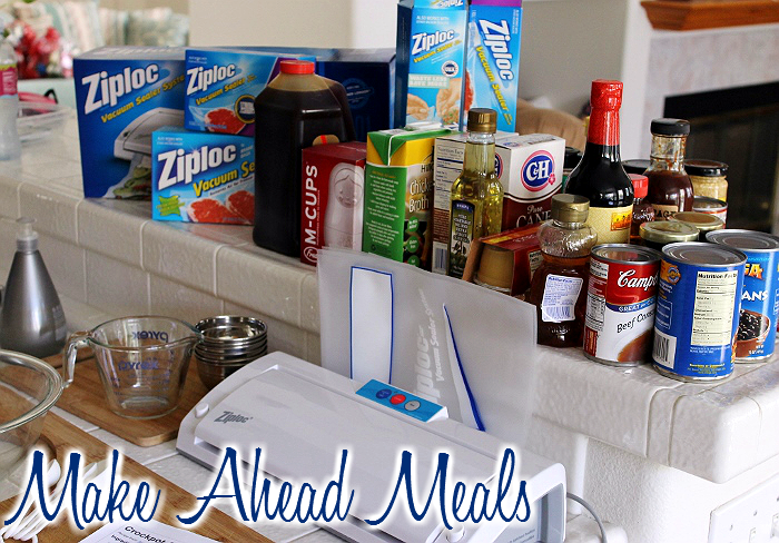 Make Ahead Meals for Food Storage