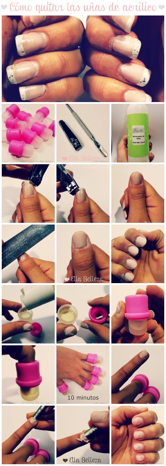Cómo quitar uñas de acrílico