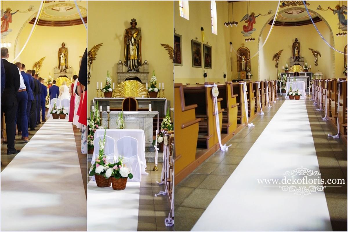 Ślubny biały dywan - ślub Opole