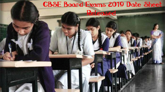 CBSE Class 10 and 12 Board Exam Date Sheet