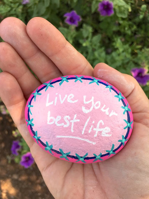 Live your best like kindness rock painting idea