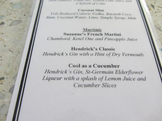 Casa Marina Key West Drink Menu