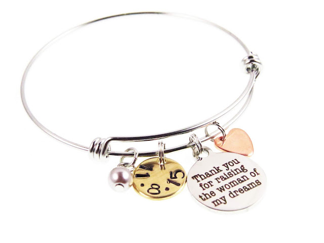 skinny charm bangle bracelet