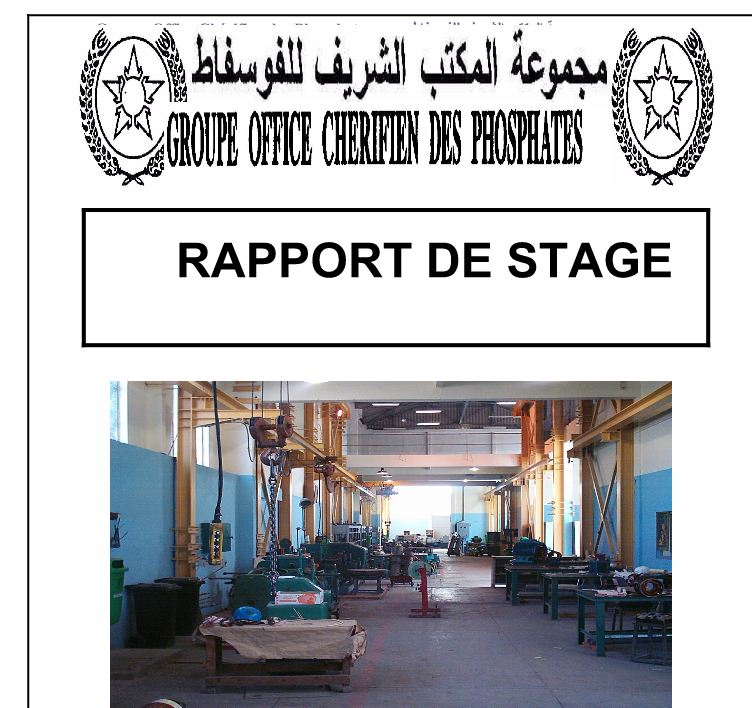 rapport de stage pdf informatique