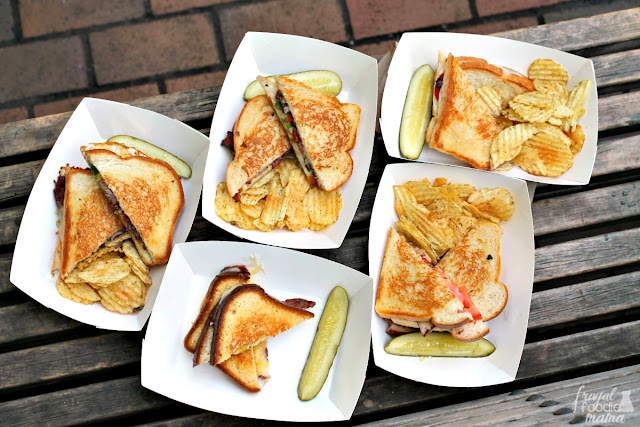 The Grilled Cheese Grill cart in Portland, OR offers a huge selection of cheesy goodness with many of their grilled cheeses featuring a local favorite- Tillamook.