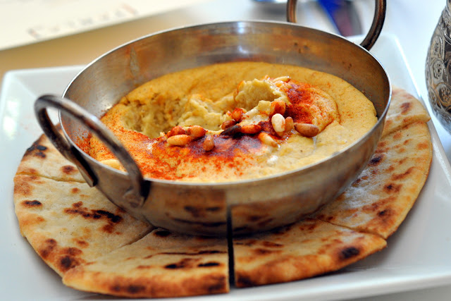 Warm Hummus with Pita - Tarla Mediterranean Grill - Napa, CA   Taste As You Go