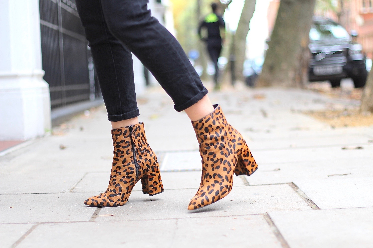 leopard print ankle boots topshop peexo