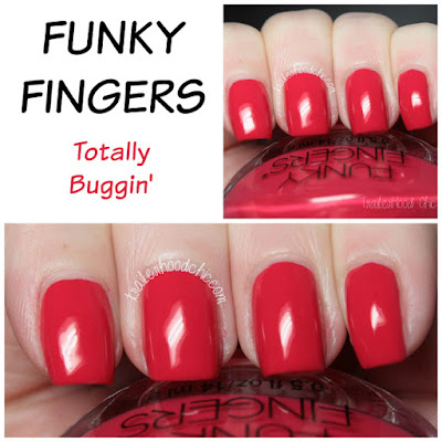 funky fingers totally buggin review swatches clueless