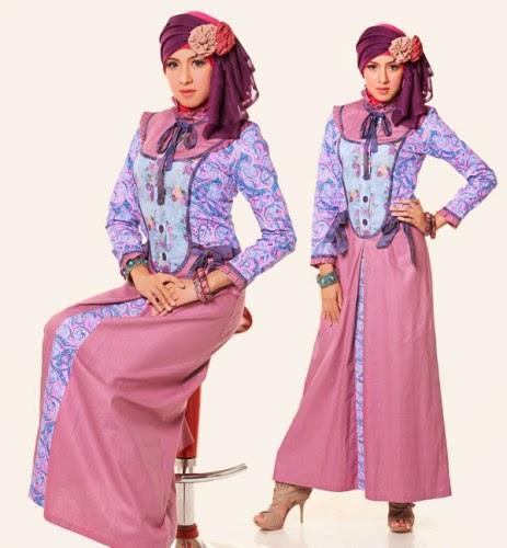 Contoh desain baju muslim remaja terbaru modis