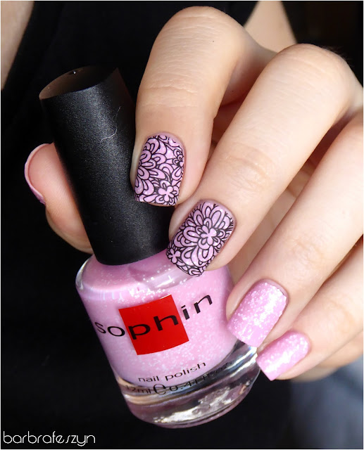 glitter różowy sophin