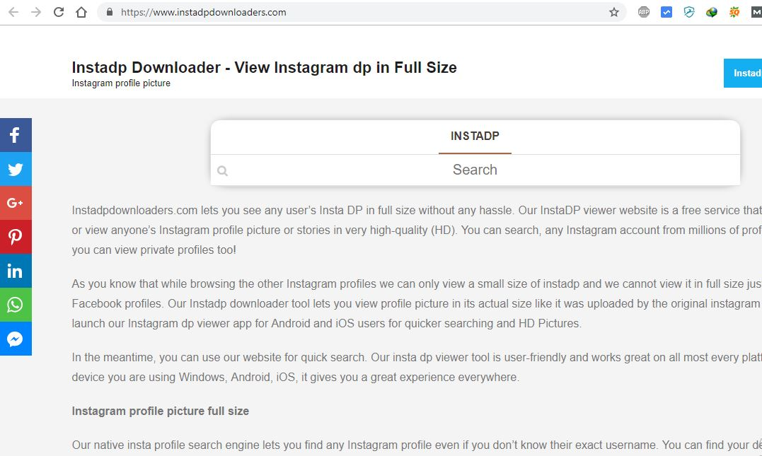 How to View Insta dp in Full Size(Easy Way)