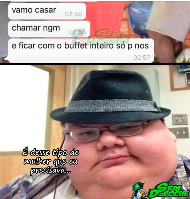 A COMIDA SERÁ SÓ NOSSA