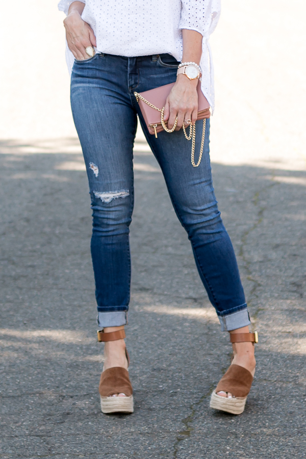 dark distressed denim parlor girl