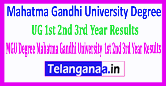 MGU Degree Mahatma Gandhi University UG 1st 2nd 3rd Year Results 2018