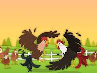 Dongeng Anak Kisah Ayam yang Berkelahi dan Burung Elang (Aesop)