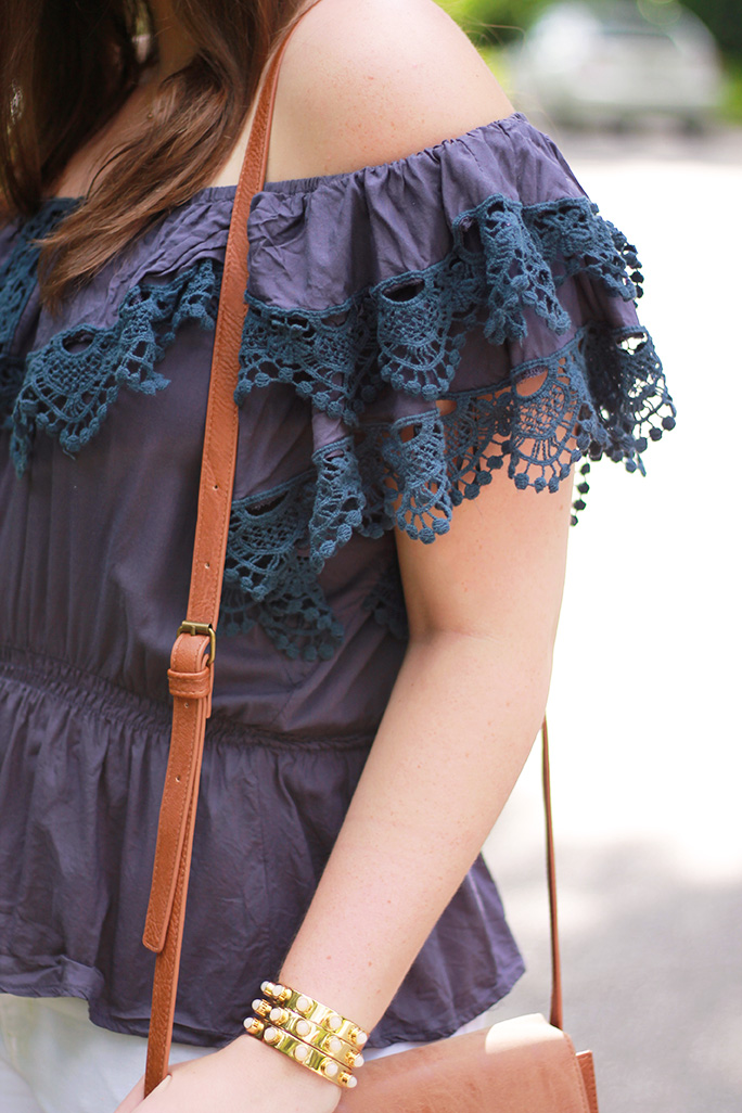 lace detail mexican style top
