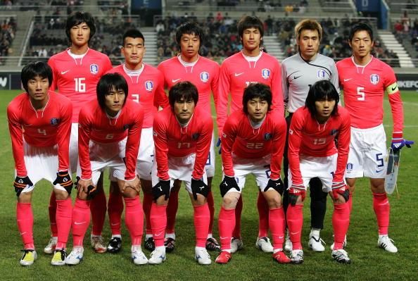 Formación de Corea del Sur ante Chile, amistoso disputado el 30 de enero de 2008