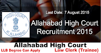 Allahabad High Court Recruitment 2015