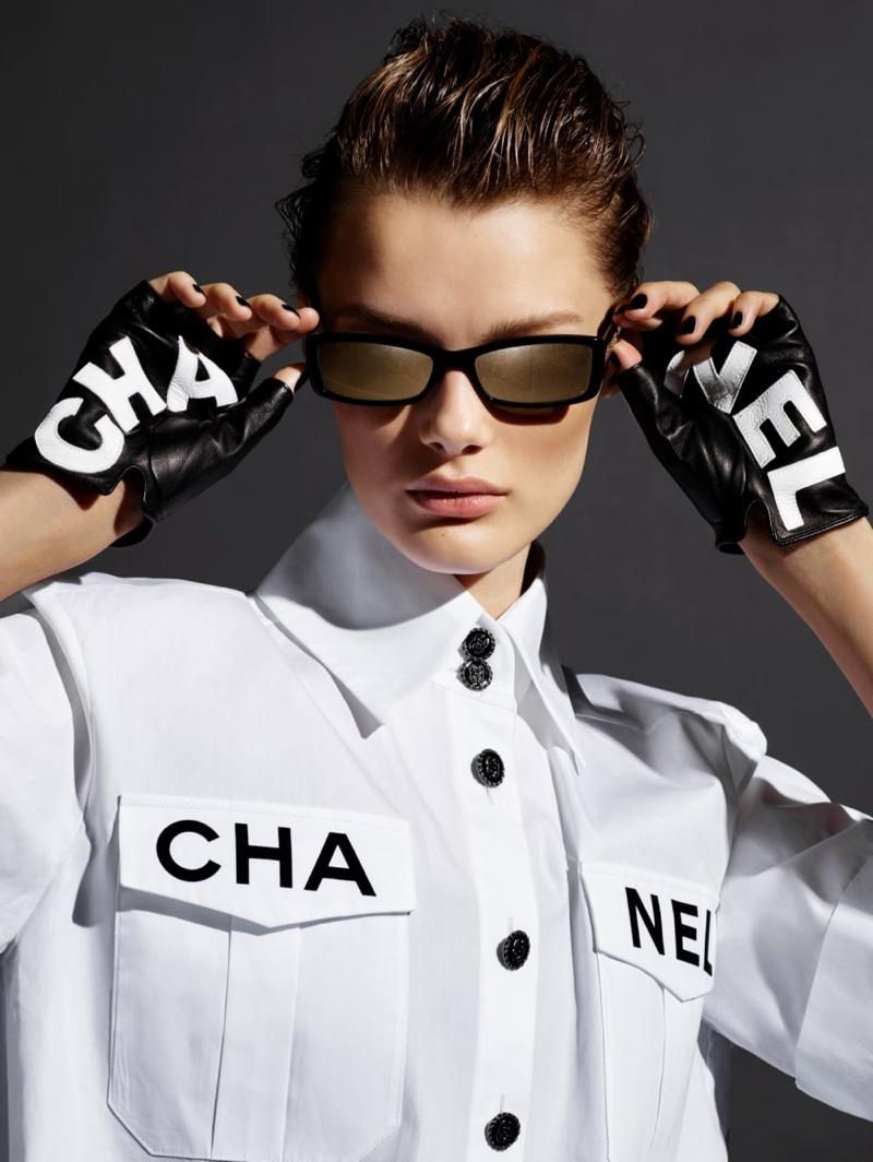 Kris Grikaite stars in Chanel Eyewear spring-summer 2019 campaign