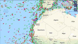 cek posisi kapal laut