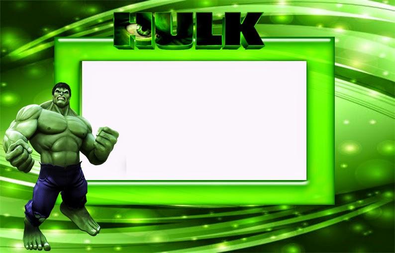 hulk free printable invitations frames
