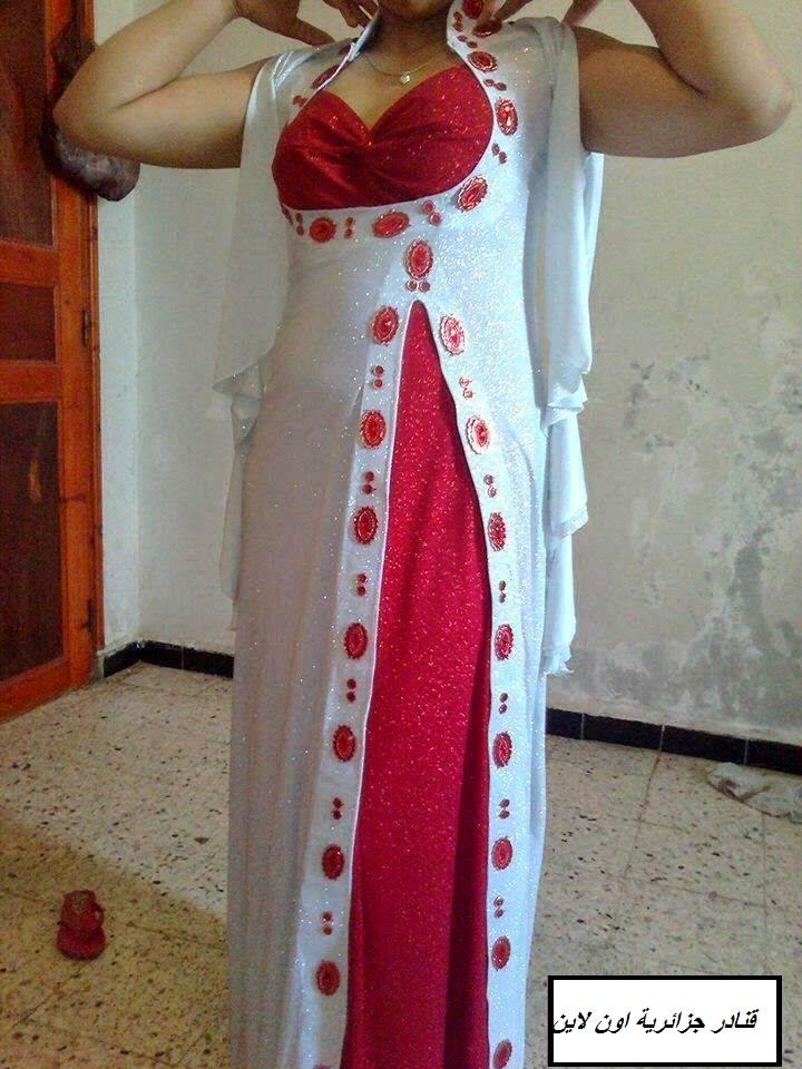 80075ffe3a655 اجمل موديلات فساتين جزائرية للفتيات 2016 للبيت والاعراس