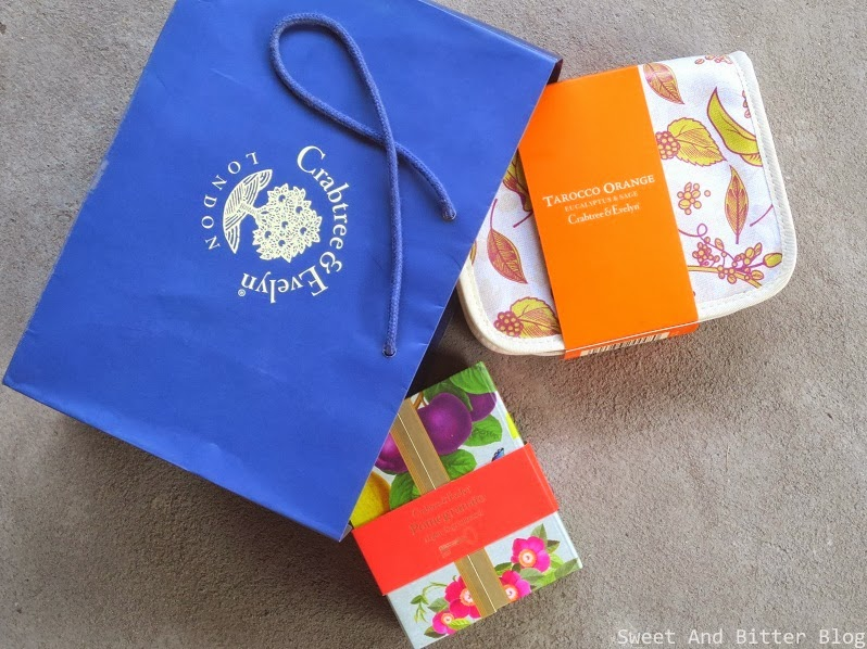 Crabtree & Evelyn London Gift Box Pouch Orange Pomegranate