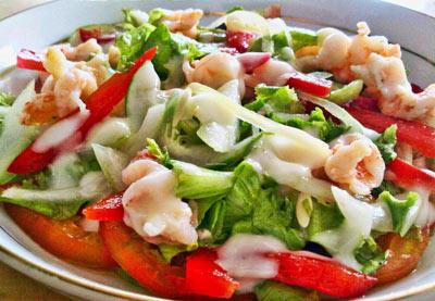 Resep Salad Udang Bawang