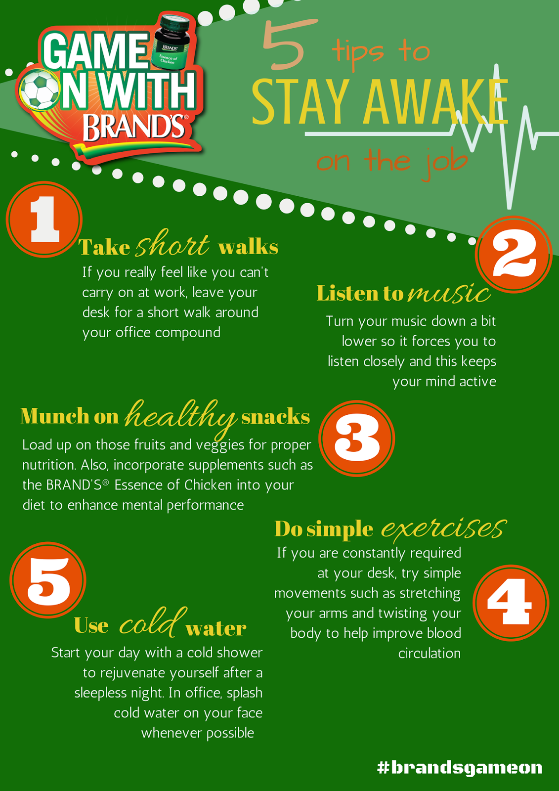 ways to survive the world cup mania when you re a non fan if you still cannot sleep and feeling tired at work you can also check out the infographic below to help you stay awake at work