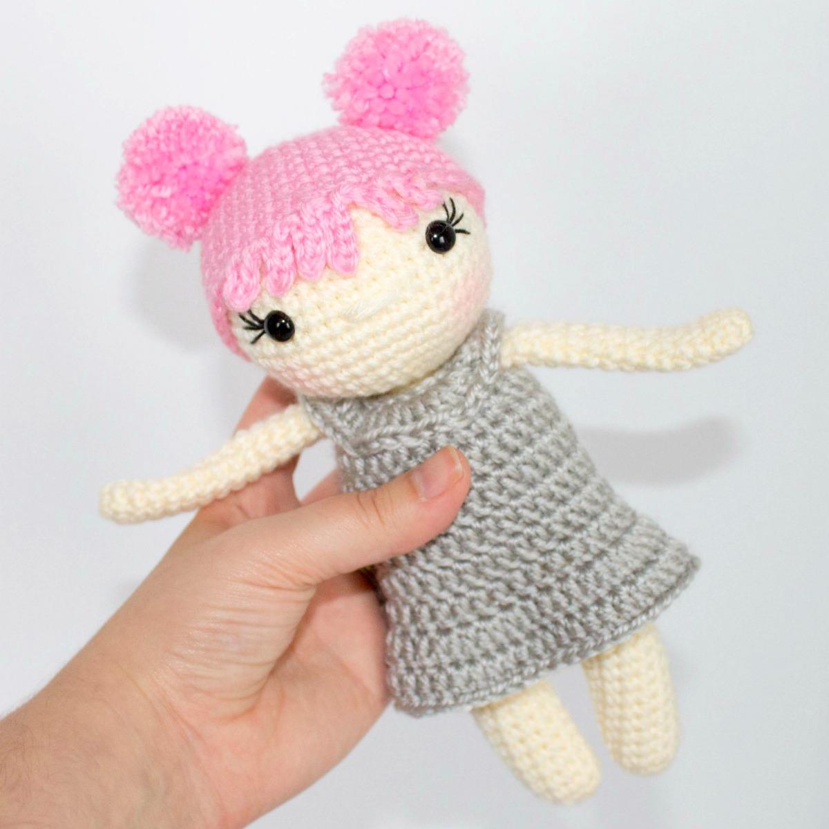 Free Pattern Mini Ballerina Animal Crochet Dolls ... | 1200x1200