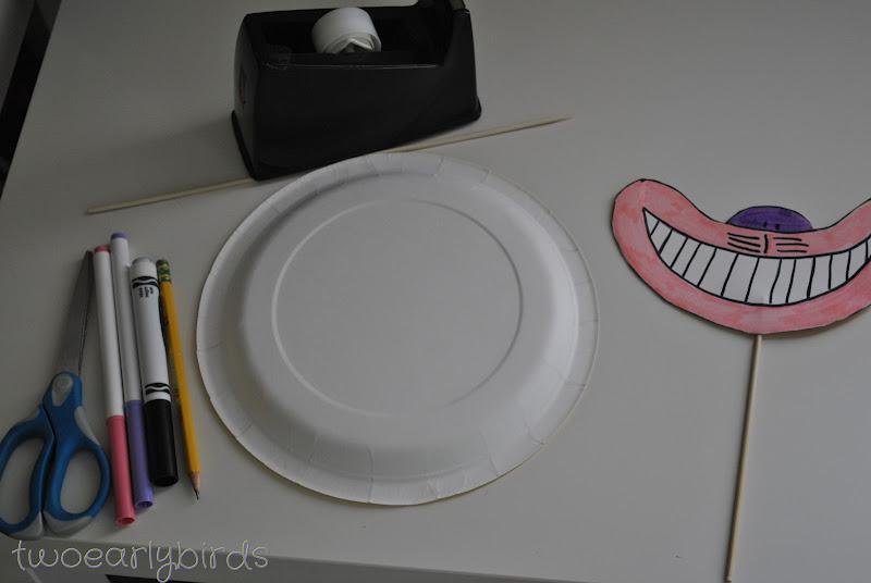 Cheshire Cat Paper Plate Craft