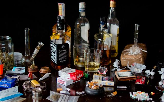 imagen de alcohol y drogas