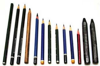 Gambar Pensil sebagai peralatan menggambar untuk anak