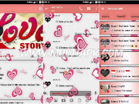BBM Mod Love Story v2.9.0.51 Apk Backup Free Sticker